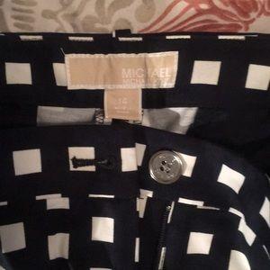 Michael Kors Gingham Pants 14 NWOT
